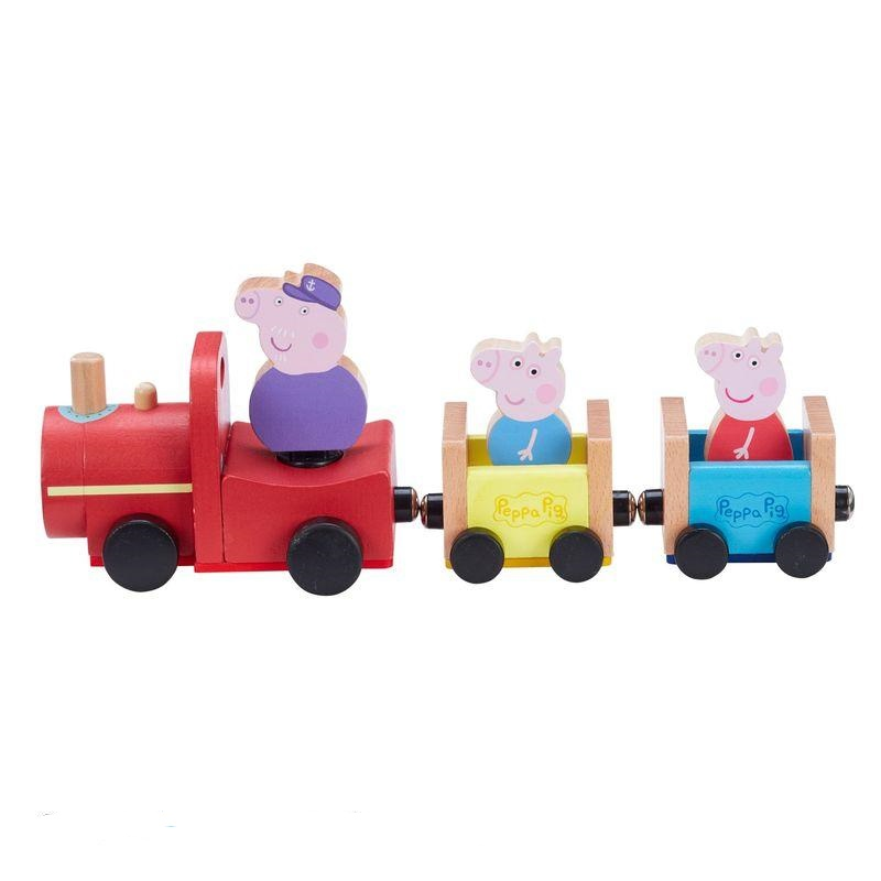 Grandpa Pig Wooden Train  photo