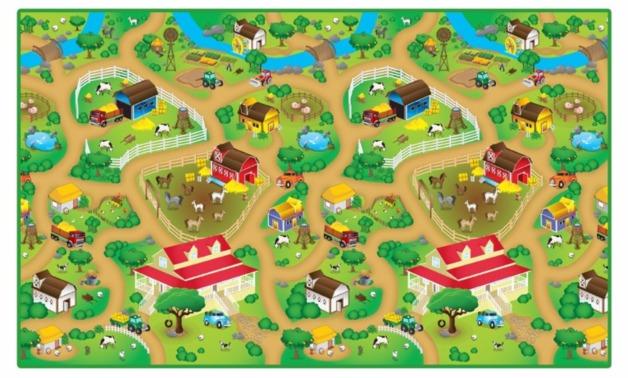 Rollmatz: Large Playmat - Farm Land + Farm Animals