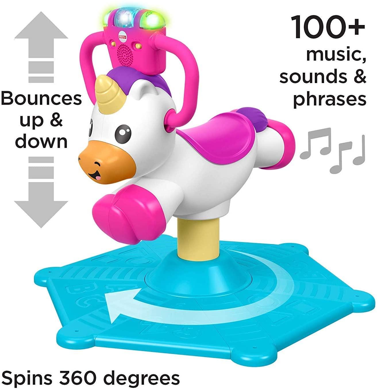 Fisher Price Bounce & Spin Unicorn photo
